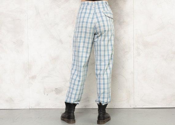 Check Print Pants 80s Checkered Nerd Pants Lightw… - image 6