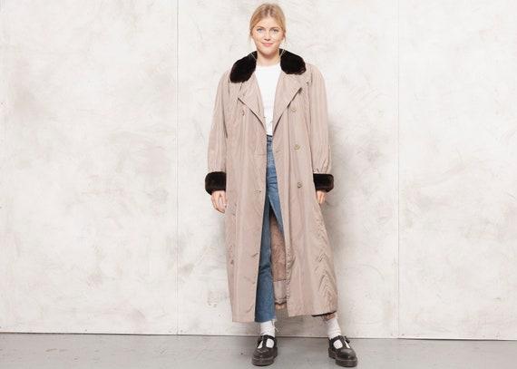 90s Longline Coat Brown Trench Coat Duster Coat Ma
