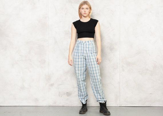 Check Print Pants 80s Checkered Nerd Pants Lightw… - image 2