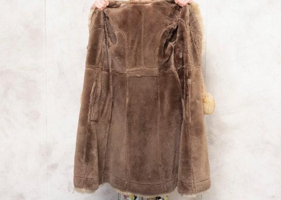 Penny Lane Coat 70s Afghan Coat Suede Brown Outwe… - image 7