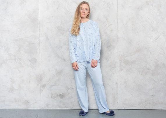 Vintage 90s Baby Blue Pajama Set . Vintage Pajama