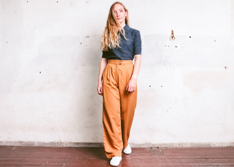 Empezars Women Cotton and Linen Pants Ankle Loose Wide Leg Palazzo Pant Plus Size