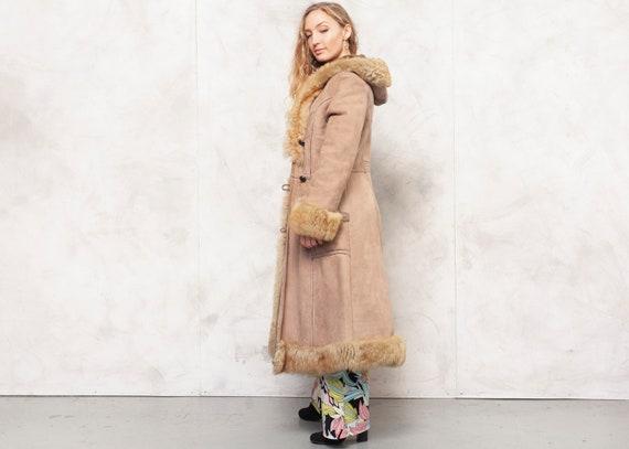 Penny Lane Coat 70s Afghan Coat Suede Brown Outwe… - image 3