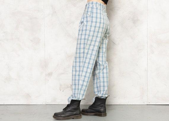 Check Print Pants 80s Checkered Nerd Pants Lightw… - image 7