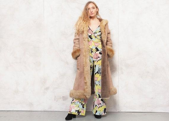 Penny Lane Coat 70s Afghan Coat Suede Brown Outwe… - image 1