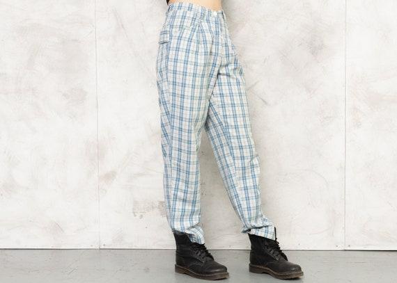 Check Print Pants 80s Checkered Nerd Pants Lightw… - image 5