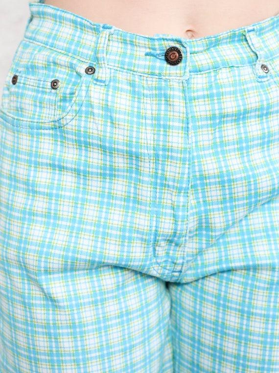 Plaid Summer Pants 80s checkered nerd pants light… - image 6