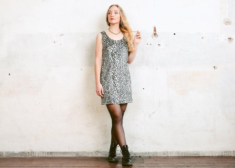 Velvet Leopard Print Slip Dress . 90s Party Mini Dress Vintage  c52a1f7de