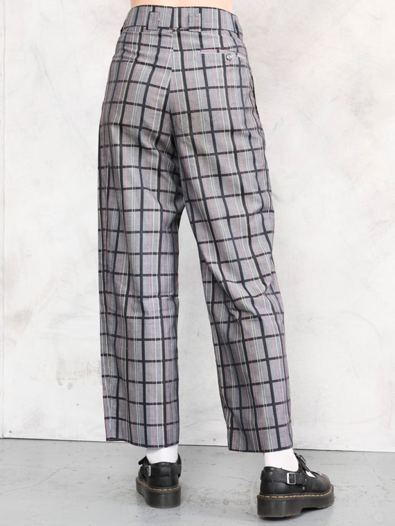 Relaxed Women Pants plaid vintage 80s checkered p… - image 4