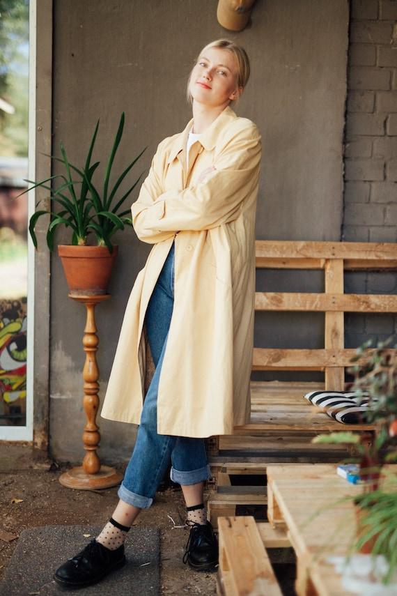 80s Oversized Trench Coat Duster Coat Rain Coat Ma