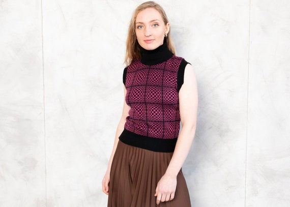 pink brown striped sweater long sleeve top women/'s boho hippie unisex blazer Vintage 70s cardigan cute jumper estimated size S  M