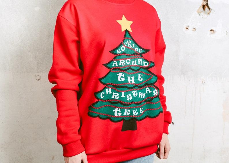 074414e9fa77 80s Ugly Christmas Sweater . Oversized Vintage Sweatshirt | Etsy