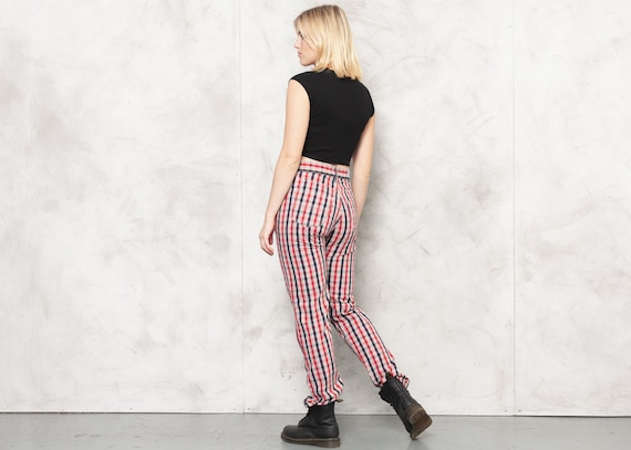 TED BAKER Pants 80s Checkered Nerd Pants Plaid Tr… - image 4
