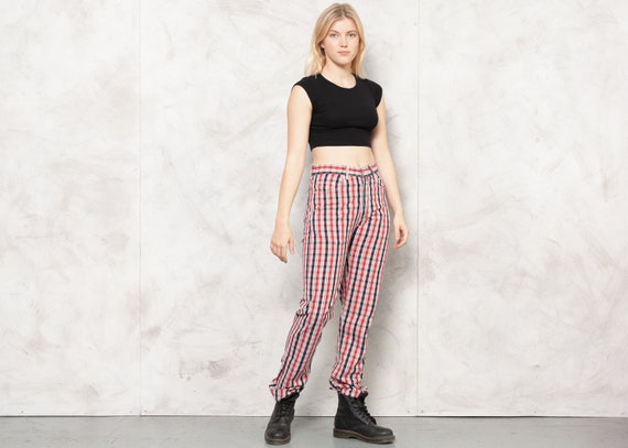 TED BAKER Pants 80s Checkered Nerd Pants Plaid Tr… - image 3