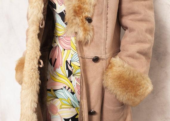 Penny Lane Coat 70s Afghan Coat Suede Brown Outwe… - image 5