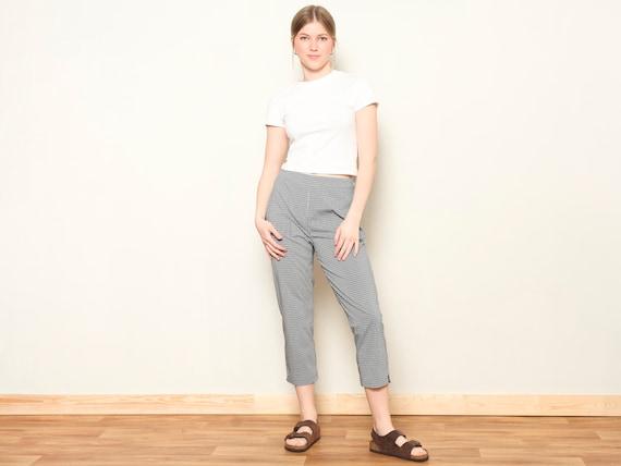 Plaid Summer Pants women vintage 80s checkered pa… - image 2