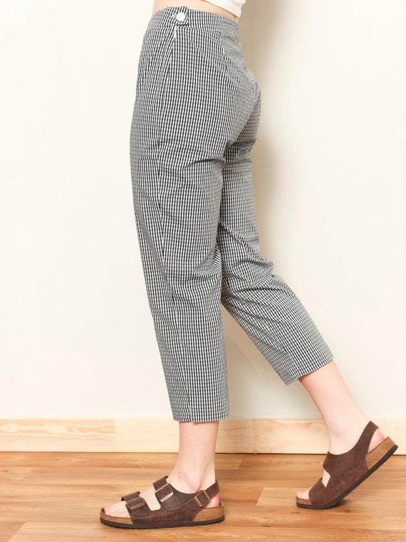 Plaid Summer Pants women vintage 80s checkered pa… - image 5