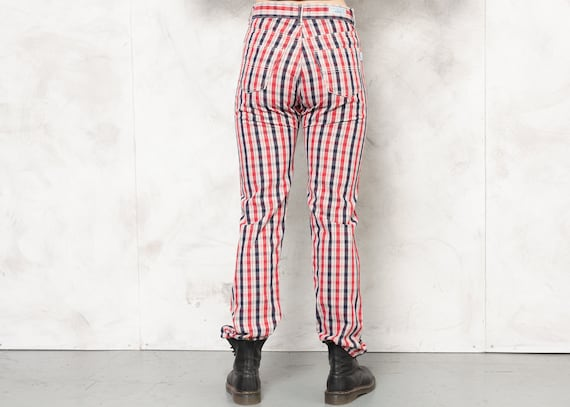 TED BAKER Pants 80s Checkered Nerd Pants Plaid Tr… - image 6