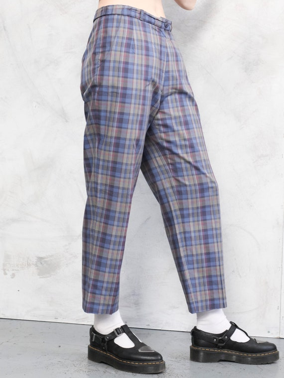 Check Print Pants 80s checkered nerd pants lightw… - image 3
