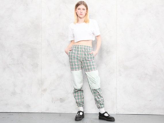 Plaid Summer Pants vintage 80s checkered artist p… - image 2