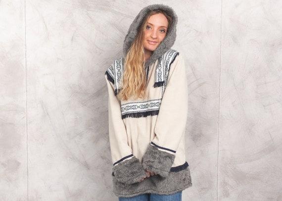 Vintage Longline Fleece Pullover . 90s Eskimo Jump