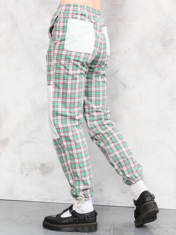Plaid Summer Pants vintage 80s checkered artist p… - image 5