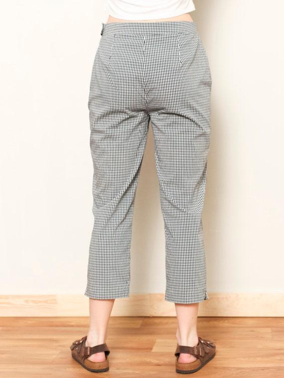 Plaid Summer Pants women vintage 80s checkered pa… - image 4