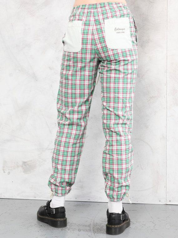 Plaid Summer Pants vintage 80s checkered artist p… - image 4