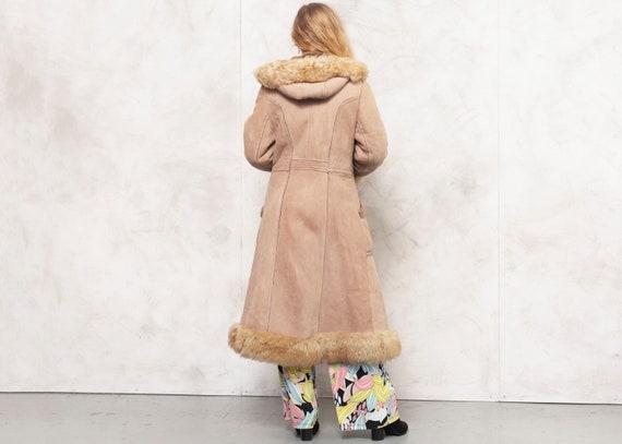 Penny Lane Coat 70s Afghan Coat Suede Brown Outwe… - image 4