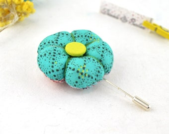 broche flor estilo japonesa, flor de tela japonesa broche para ropa