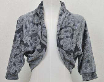 Velvet Bolero, Party Bolero, Warm Bolero, Party Coat, Fashion Party Bolero, Party Fashion Jacket, Grey Velvet Bolero
