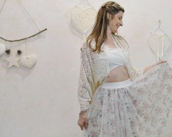 Bridal swall lace ivori , wheeding chal lace, wheeding bolero lace, bridal swall guipur, party bolero, lace bolero, guipur bolero