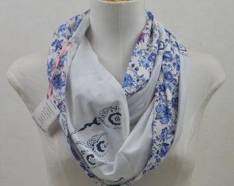 fularFular infinity, handmade scarf, printed scarf, original scarf, original gifts, Christmas gift, exclusive gift, craft gift