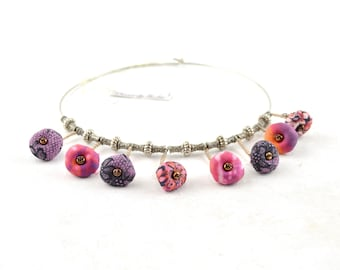Multicolor choker necklace, multi-colored textile choker, colorful textile necklace, mother's day gifts, gifts for mom, original gifts
