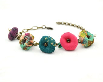 Bohemian style colored bracelet, colored beaded bracelet, boho style bracelet