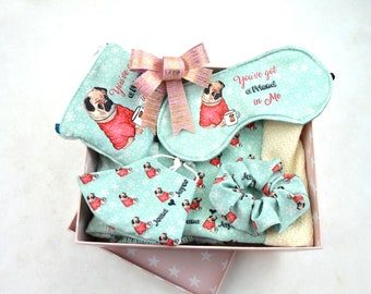 Caja de regalos personalizados, Kit de viaje para mujer, kit de regalos personalizados para mujer, regalos personalizados para mujer