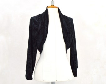 Black party bullfighter, black velvet bolero, black party bolero, black party jacket
