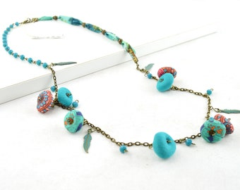 Turquoise bohemian necklace, bohemian necklace, bohochic style necklace, turquoise necklace, original bohemian necklace, Christmas gifts