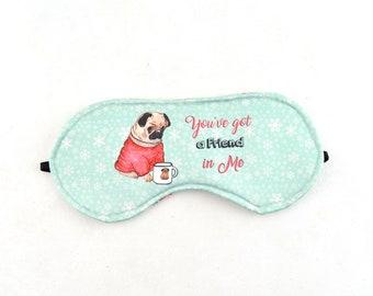 Mascara de dormir para mujer, mascara de dormir personalizada con nombre, regalo para ella con nombre, regalos personalizados para mujer
