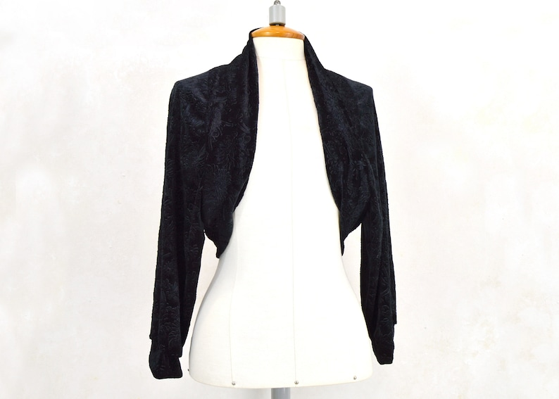 black party bolero Black party bullfighter black party jacket black velvet bolero