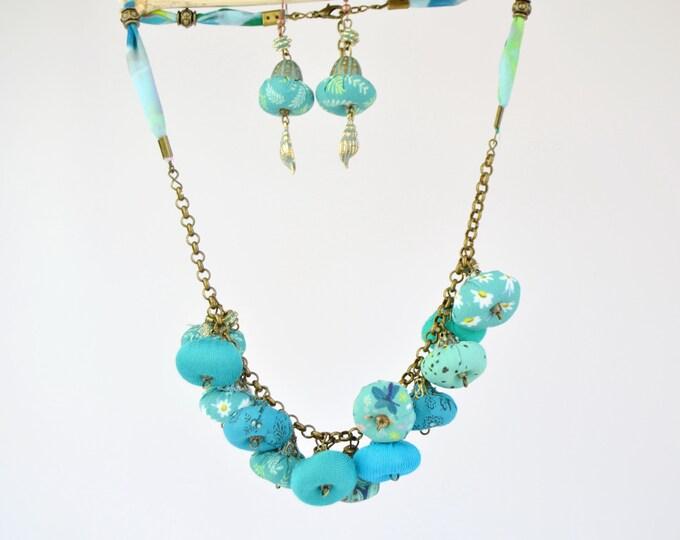 Featured listing image: original handmade jewelry set, full color designer jewelry, very original bohemian jewelry