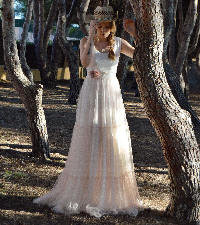 afeed3c467671 Hippie wedding dress, rustic boho chic wedding dress, dress with ...