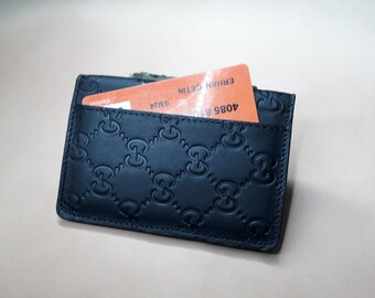 Gucci case etsy gucci leather business card holder card wallet leather card holder handmade gucci style card holder black card holder colourmoves