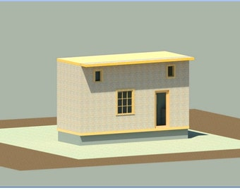 Tiny house - ready to build- plan and drawings
