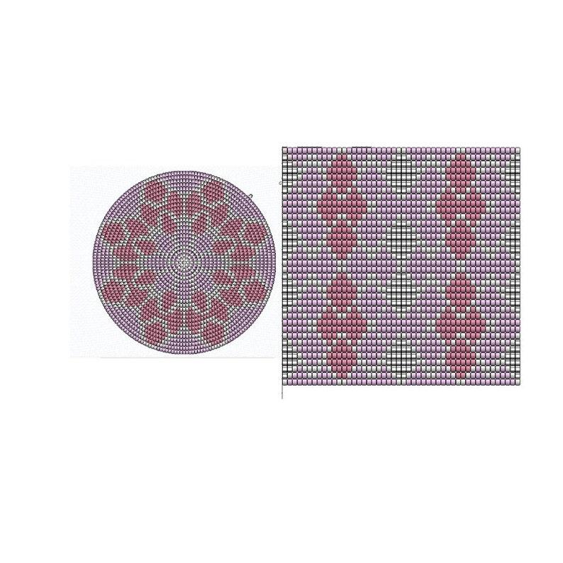tapestry crochet pattern CHARTED pattern PATTERN: Diamond Shades wayuu bag pattern Set of wayuu mochila patterns mochila bag pattern