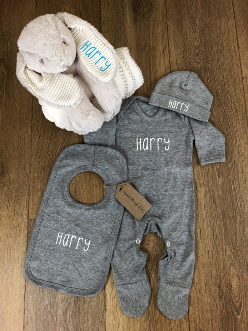 TeddyTs Personalised Baby Sea Creatures Sleepsuit Gift