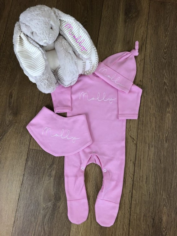 Personalised Baby Sleepsuit,Born 2018 Clothes New Baby Boys Gift Christening