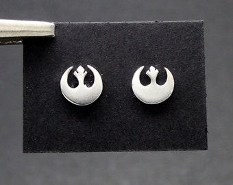 Symbol of the Rebel Alliance earrings in silver 925