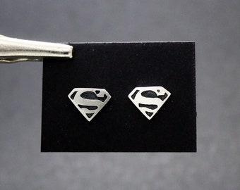 Superman earrings in silver 925