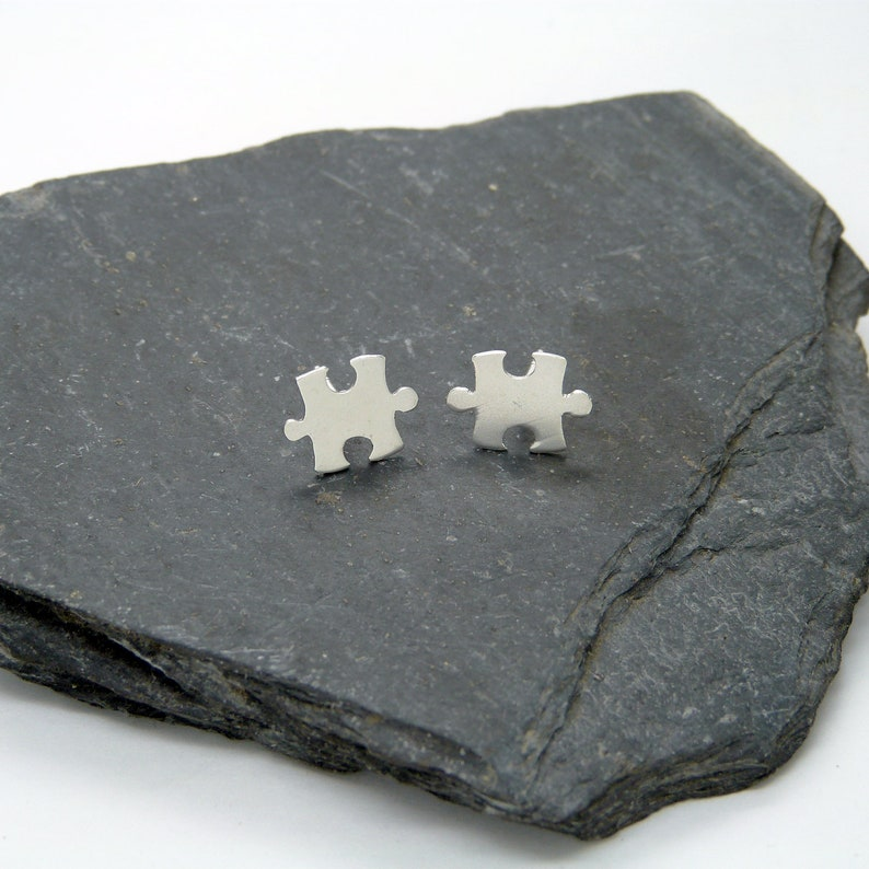 Silver Puzzle Earrings 925 image 0